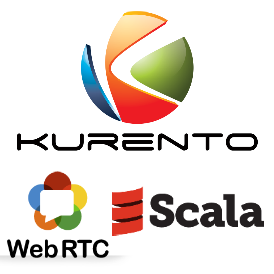 WebRTC many to many video conference with Kurento and Scala Actors