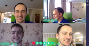 How many participants can we place in one WebRTC peer 2 peer room 4