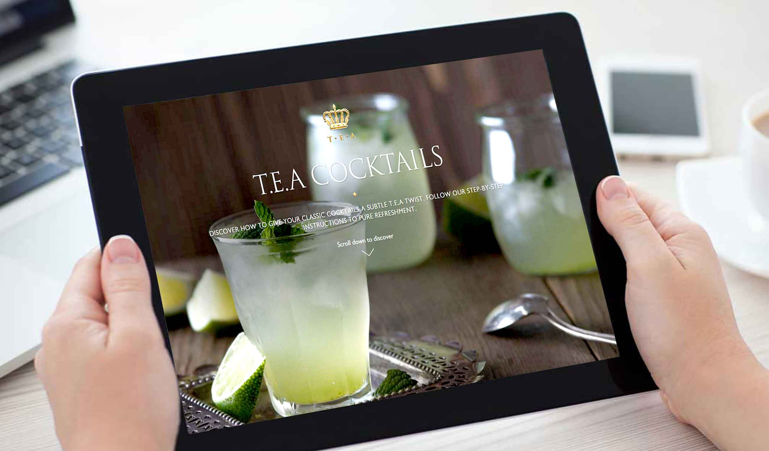 T.E.A website on IPad